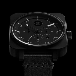 Square Chrono - Black / Black