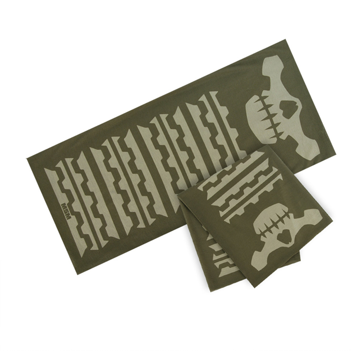 MSM Skull Mask Multi Scarf - Dusty Brown