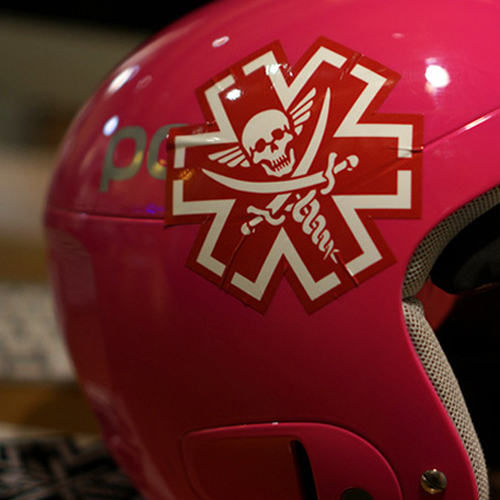 TacMed Pirate Decal Sticker - Red