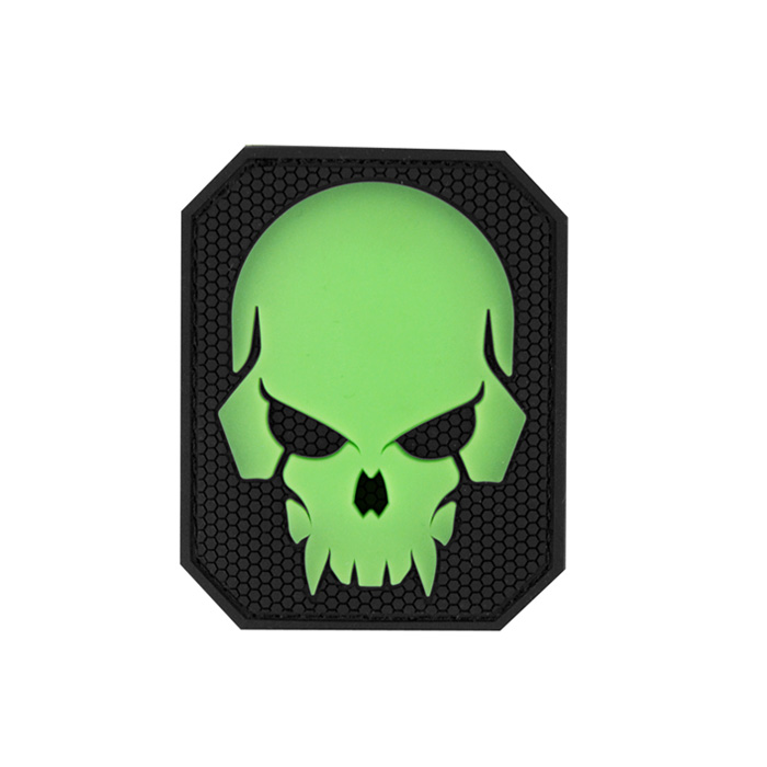 Pirate Skull Large PVC - GreenGlow