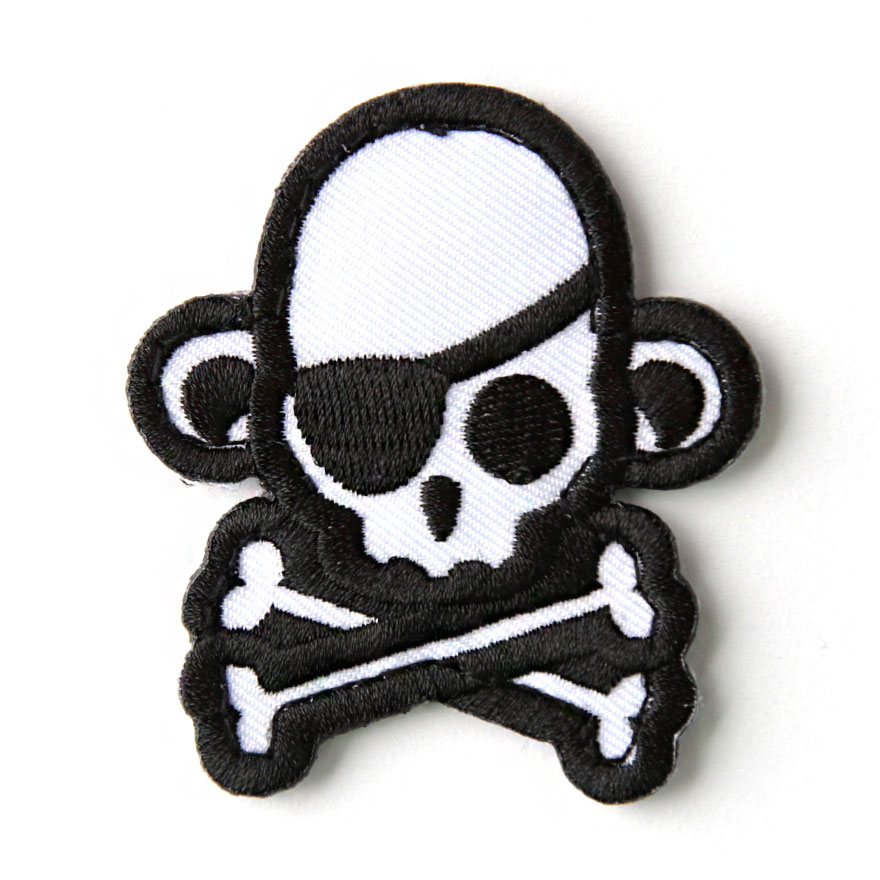 Skull Monkey - Pirate - White