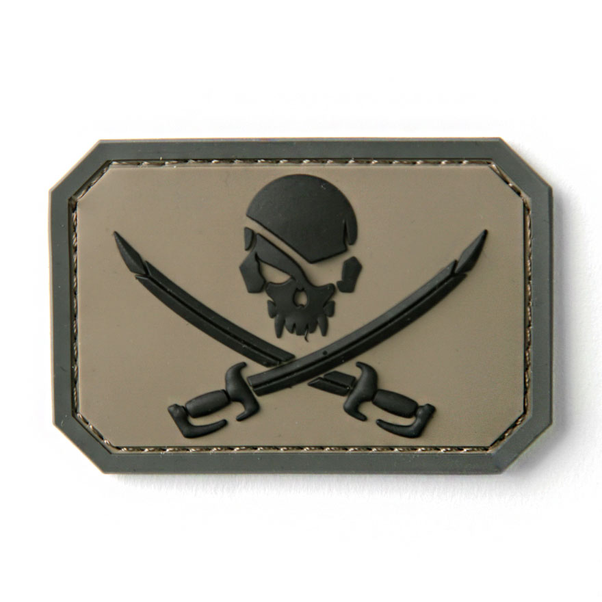 Pirate Skull Flag PVC - ACU-Dark