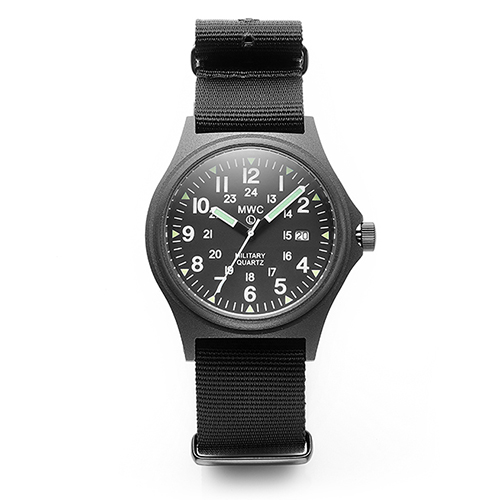 G10BH PVD 12/24 50mWater Resistant Military Watch