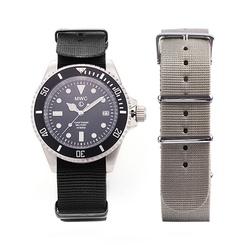 300m / 1000ft Stainless Steel Hybrid Military Divers Watch