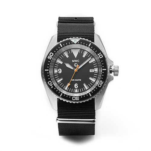 Military Divers Watch in Stainless Steel Case (Quartz)