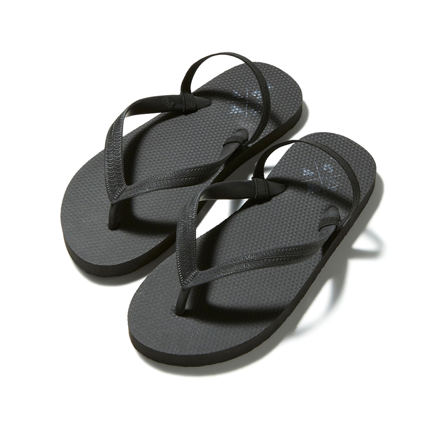 Back Strap Beach Sandal - Black