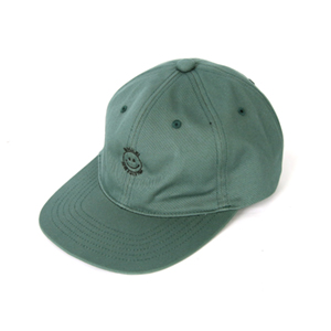 Smile Embroidery Cap - Forest Green