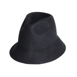 Soft Free Brim Felt Hat  - Black