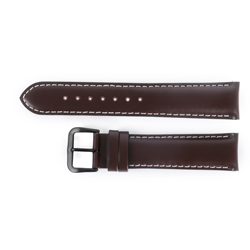 Italian Calf Leather Strap PVD - Chestnut 20mm