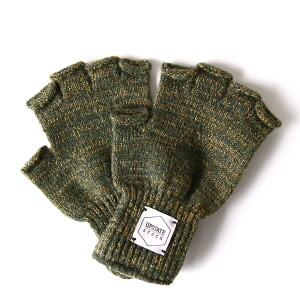 Fingerless Wool Glove - Olive