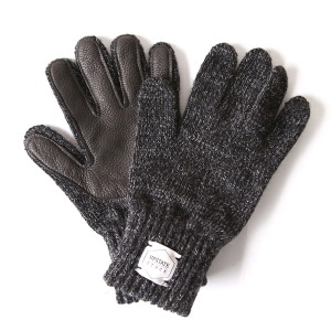 Ragg Wool Glove with Black Deer - Black