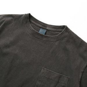 Crew Neck Pocket T-shirts - P-Black